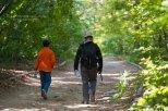 My boys along a walking path